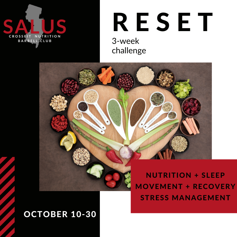 """""""RESET"""" Nutrition & Lifestyle Challenge Rules"""